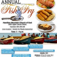 Annual 'Fish Fry' – 'Good Friday' – April 14, 2017.       Time 1 – 4 pm.