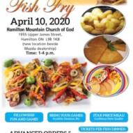 Annual 'Fish Fry' – 'Good Friday' – April 10, 2020.       POSTPONED