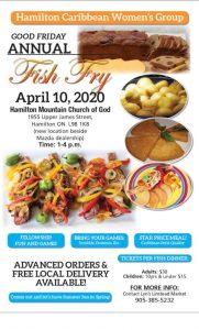 Annual 'Fish Fry' - 'Good Friday' - April 10, 2020.       POSTPONED @ POSTPONED | Hamilton | Ontario | Canada