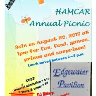 Annual Family Picnic – Sunday, August 20th, 2017 – 1:00 p.m.