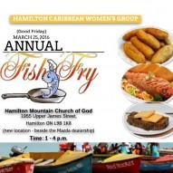 Annual Fish Fry – April 14, 2017 – 1 – 4 pm